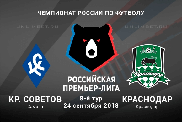 Прямая трансляция матча Крылья Советов - Краснодар смотреть онлайн